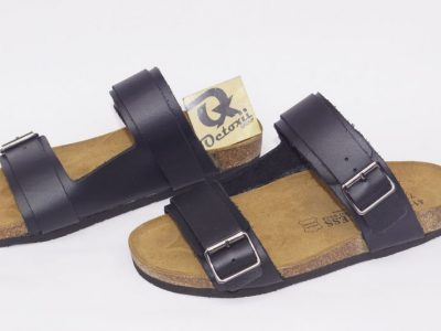 Double belted Birkenstock slippers