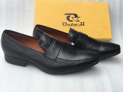 Mart Leather Mix Loafers (Black)