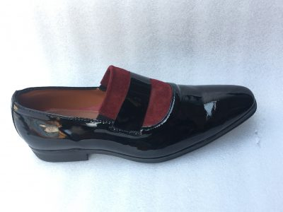 Alade Patent Suede loafers (Wine)